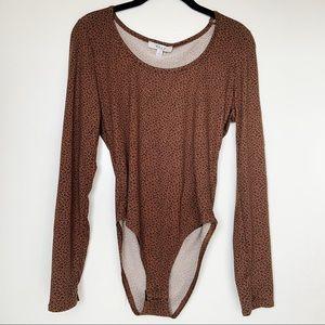 NWT Gaze Long Sleeve Animal Print Bodysuit